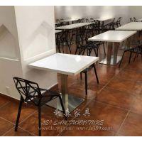 国贸奶茶店二人位四人位餐桌椅 西餐厅板式餐桌椅 厂家直销