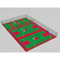 天津篮球场地坪篮球场工程施工