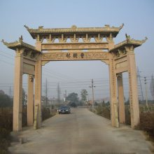安徽石门楼雕刻厂家 村庄路口标志性建筑