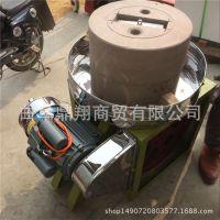 小型40公分电动石磨磨浆机 两项电豆腐石磨机 砂岩石磨米浆机
