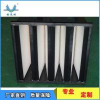 W型亚高效空气过滤器/黑色塑料框亚高效空气过滤器/洁净室通风系统用