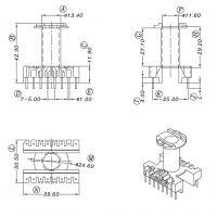 ER35变压器骨架 直插 立式8+8针 HX-3502 厂家直销