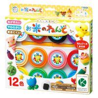 日本银鸟品牌12色大米彩泥套装橡皮泥儿童益智玩具包邮