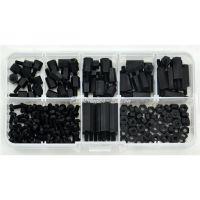 速卖通M3尼龙螺丝螺母 180PCS 黑色 尼龙螺丝螺母隔离柱组合套装