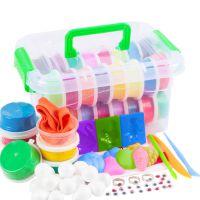 超轻粘土24色橡皮泥玩具儿童彩泥太空36色沙套装厂家批发益智diy