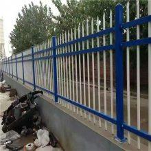 小区围墙施工栏杆 热镀锌喷塑围栏 三横杠方管护栏