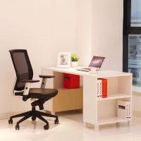 国景家具职员办公桌 台式家用自由组合办公家具 单人电脑桌带书柜