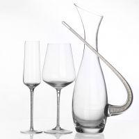 HOLY高档家居礼品馈赠用透明水晶灌钻水晶红酒杯醒酒器套装酒具