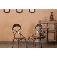 海德利背叉椅 美式乡村西餐馆 咖啡厅 loft复古做旧铁艺餐桌交叉背椅