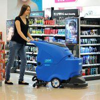 供应上海容恩手推自动洗地机|物业保洁地面用拖地机R50B