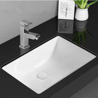 正品卫生间嵌入式陶瓷长方形洗面洗手盆台下盆白色方形洗漱盆