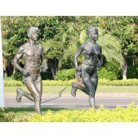 东莞原著雕塑厂家订做 玻璃钢马拉松人物造型 公园景观摆件