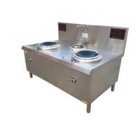 商用厨具电磁双头单尾小炒炉就到山西厨具营行省心省力更省钱