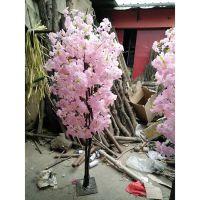 仿真树优点有哪些? 仿真大型樱花树 耐腐蚀 各种造型可定制 室外加抗UV 不褪色 人造塑料工艺品