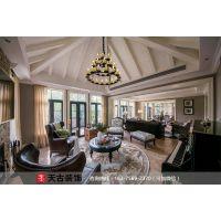 红鼎高尔夫社区装修|独栋别墅|750平米|美式风格