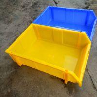 塑料盒 元件盒 组合式零件盒塑料斜口支架零件盒 组合堆叠标签收