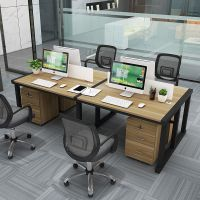 简约现代屏风办公桌商务员工板式职员桌 家居实用电脑桌厂家直销