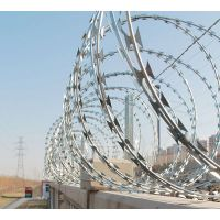 孟业不锈钢304刀片刺绳 316刀片刺滚笼 监狱看守所专用防爬网