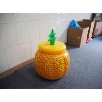 环保PVC充气菠萝冰桶 菠萝冰盆 充气饮料冰桶