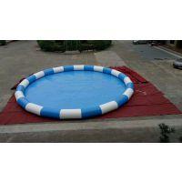 小朋友玩充气大型泳池 儿童充气水池组合水滑梯 郑州市大型帆布游泳池厂家