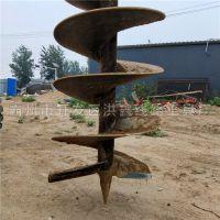 涿州市小型铲车改的挖坑机价格 施工简单 洪鑫电杆打坑机器