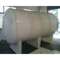 江苏PP10T卧式储罐 10立方去离子水缓冲罐 塑料化工储罐 塑料防腐耐酸碱立创厂家