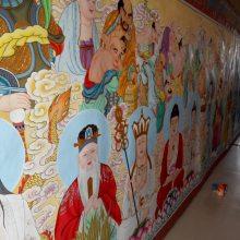 佛道壁画寺庙背景墙壁画绘制公司