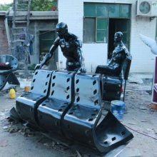 玻璃钢胶卷造型坐椅摆件抽象人物胶片坐凳雕塑创意电影底片模型树脂椅子装饰