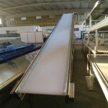 大型皮带输送机裙边挡板传送带大倾角运输机德隆非标定制自动回收设备化工用爬坡机
