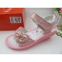 热卖品牌童鞋时尚韩版凉鞋新品休闲鞋温州皮凉鞋大1788小2788