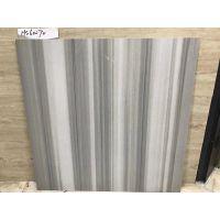 全瓷超低吸水率60x60CM粗条直纹哑面灰白仿古砖