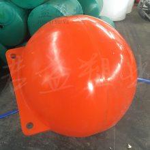 直径1000mm塑料浮球批发 可充聚氨酯发泡航标浮球