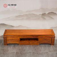 檀明宫红木家具刺猬紫檀花梨木电视柜2米地柜矮柜实木古典中式客厅柜