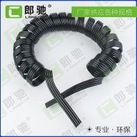 浙江厂家定制PU四排弹簧管 黑色伸缩螺旋管 气动空压PU四排软管