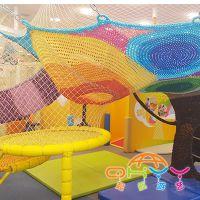 山东起航游艺七彩树,彩虹绳网,室内儿童绳网游乐设备