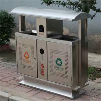 献县鑫建供应不锈钢户外垃圾桶 钢木室外垃圾桶 厂家批发价格合理