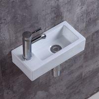 简易小户型陶瓷小方形挂式挂墙洗脸盆挂盆