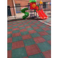 橡胶地垫厂 儿童游乐场所防摔伤安全地垫购买 优质地胶板直销