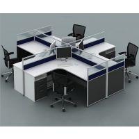 办公家具办公桌椅组合4人位L型十字型屏风工作位员工桌职员桌生产