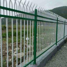 组装式栏杆 带横杆栅栏 蓝白护院围栏