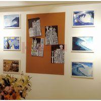 肇庆彩色软木板H宜城挂式贴布软木板X图钉板照片墙