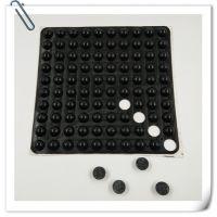 深圳金丰半圆形橡胶脚垫报价 硅胶方形胶垫背3M胶