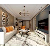 山水装饰设计三室两厅简约风格家装效果图,时尚都市白领的风格装修