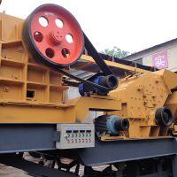 移动爆破石劈碎车 湘西石灰岩碎石移动加工设备 0-30mm石粉移动加工生产线