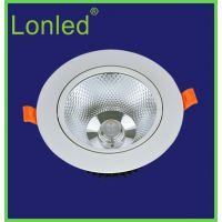 Lonled COB天花灯 5w 开孔75高亮 压铸铝LED天花灯酒店商业照明 COB射灯