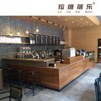 供应西安特色咖啡厅吧台创新实木吧台