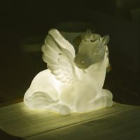 独角兽发光玩具 发光搪胶独角马 搪胶公仔 独角兽发光玩具定做