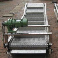 强盛生产链板提升输送机 不锈钢链板提升输送流水线 欢迎加工制作