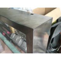 304#拉丝不锈钢矩形管60*20*1.5 激光45°角 焊接打磨拉丝 三维激光切管