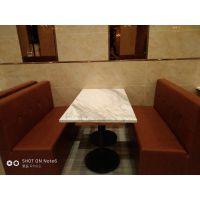 倍斯特简约现代全软包卡座主题中餐厅西餐厅厂家定制